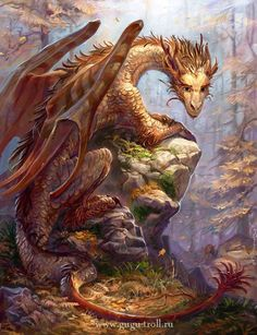 a dragon who is captured and scared but yet shows tender love in his eyes for he knows he will be safe