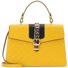 Gucci Signature Sylvie Embossed Leather Shoulder Bag