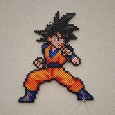 Dragon ball DBZ Goku perler beads, hama beads, bead sprites, nabbi fuse melty beads by Dimami Art