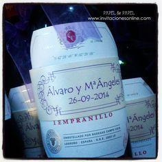 Etiquetas personalizadas para botellas de vino