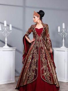 Başlıklı Osmanlı Kaftan Bindallı Kına Elbisesi 0424