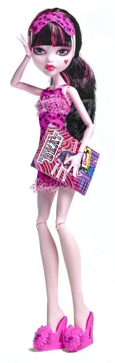 Monster High Dead Tired Draculaura Doll - Wave 2