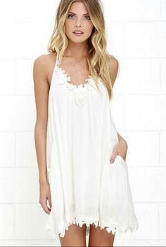 64aa5c744bada5 White Shift Dresses, Ivory Dresses, Lulu's Dresses, Summer Dresses, Floral  Dresses,