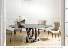 Modern Furniture Vancouver, Porada Infinity Elliptical Table