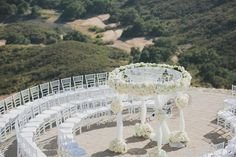 I want to get married again just so I can have this #Circular #chuppah with white roses  #ChuppahPickOfTheWeek