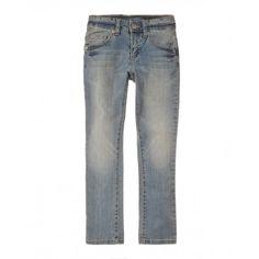 Pantalone, 5 tasche, in misto cotone. Passanti in vita. Elastico regolatore in vita. Chiusura con bottone e zip centrale.4CU9573E0 denim1
