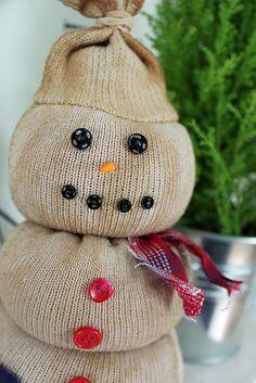 sock snowman craft instructions