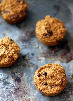 Pumpkin Chocolate Chip Oat Protein Muffins. HCLF. Will probably add more protein to mix...