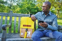 Goodstart Jones   Woodsack Backpack XL in Yellow.  Park Life rolltop backpack.