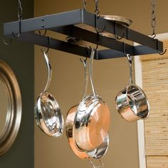 Have to have it. The Gourmet Rectangle Pot Rack with Center Bar - $53.5 @hayneedle