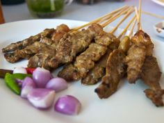 ... garlic steak satay recipes dishmaps stick it ginger garlic steak satay