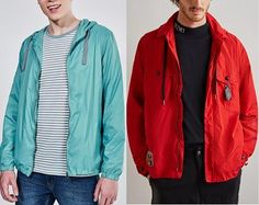 Red Leather, Leather Jacket, Sewing Techniques, Couture, Sewing Patterns, Rain Jacket, Windbreaker, Fabric, Jackets
