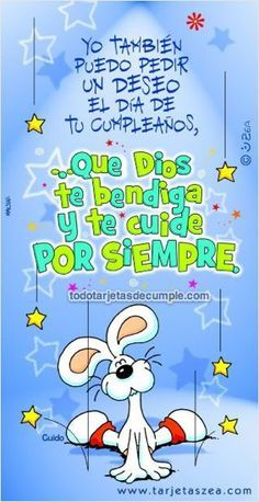 Te deseo un feliz cumpleaños - Continue reading → Happy Birthday Images, Happy Birthday Greetings, Birthday Messages, Birthday Quotes, Happy Wishes, Happy B Day, E Cards, Special Day, Congratulations