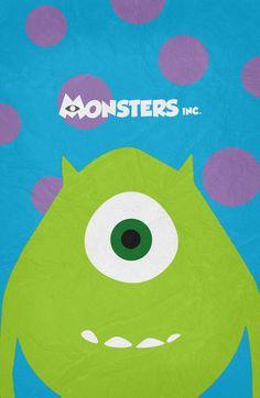 Monsters, Inc. (2001) ~ Minimal Movie Poster by Begum Ozdemir #amusementphile