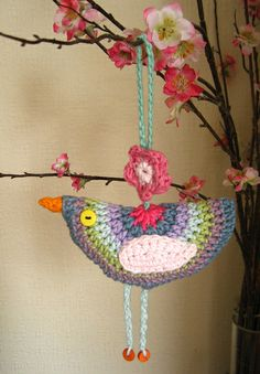 Little Birdie crochet decoration Crochet Home, Knit Or Crochet, Crochet Crafts, Yarn Crafts, Crochet Projects, Attic 24 Crochet, Modern Crochet, Easy Crochet, Crochet Birds