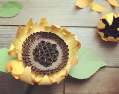 Giant paper sunflower wall art  floral decor  paper