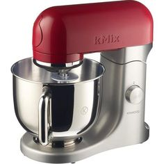 Equipped with powerful 500 watt, horizontal motor, the Kenwood kMix stand mixer is stable, high quality kitchen machine, built for powerful mixing of the Read Kitchen Machine, Red Kitchen, Kitchen Aid Mixer, Kitchen Ideas, Best Appliances, Kitchen Appliances, Small Appliances, Kenwood Mixer, Cocina Shabby Chic