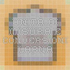 Unità di misura e conversioni - Labna