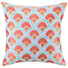 I pinned this Scallop Pillow in Peach from the Colorwheel event at Joss and Main! Bargello Design?
