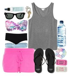 """Beach Time"" by directioner-16-17 ❤ liked on Polyvore featuring Monki, Superior, Abercrombie & Fitch, North, Børn, Hot Anatomy, Ray-Ban and philosophy"