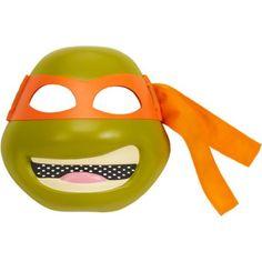 Teenage Mutant Ninja Turtles Deluxe Mask, Michelangelo, Boy's, Tan