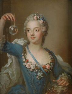 Gustaf Lundberg (Swedish, 1695-1786) - Girl with a bubble.