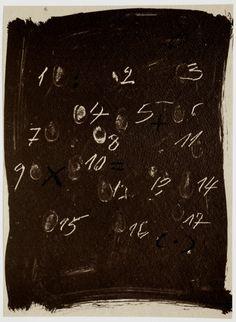 Antoni Tàpies, Llambrec Material 3 / Material Glance3. Original color lithograph, 1975.