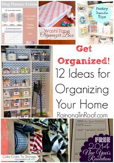 Need some help getting your home organized? Here are 12 ideas for organizing your home that anyone can do! via RainonaTinRoof.com