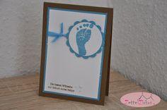 Stampin' Up! beim ZettelZirkus: Kreativ Durcheinander #11 - Babyglück, beste Wünsche, Zum Nachwuchs, Fuß, Ozeanblau, Wildleder,