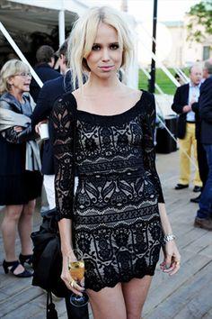 Elin Kling- Lace black dress