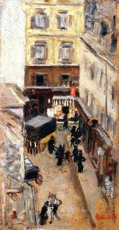 Narrow Street in Paris Pierre Bonnard - circa 1897
