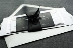 Modern Love Wedding Invitation shown in Black, White and Silver, Build-Your-Invite Collection - DEPOSIT. $150.00, via Etsy.