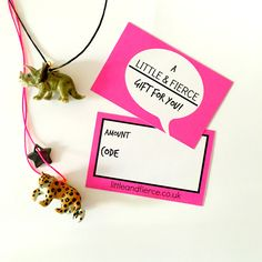 NEW - treat the little fierce kid in your life to one of our gift cards!