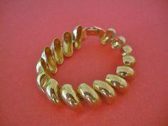 Napier Art Deco Style Vintage Link Gold Tone by CrimsonVintique, $32.00