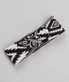 Look at this White & Black Southwestern Headband on #zulily today!