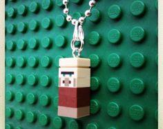 "Minecraft Lego minifigure necklace ""Villager""."
