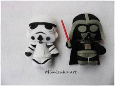 Star wars brooch Broche Star wars pin Star wars felt