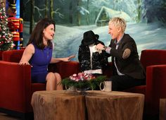Ellen gave Idina Menzel an adorable outfit for her son.