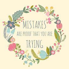 It's OK to make mistakes #inspiration #quote #qotd