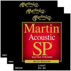 3 Packs of Martin MSP3100 8020 Bronze Light Acoustic Guitar Strings 1254 >>> Read more  at the image link.(It is Amazon affiliate link) #thelove
