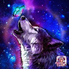 Coloring Book App, Coloring Apps, Wolf Painting, Famous Art, Paint By Number, Beautiful Pictures, Manga, Artist, Fictional Characters