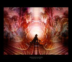 AYAHUASCA-VISION. Beautiful painting of a vision during an ayahuasca experience