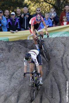The battle continued between World champion Wout Van Aert and Mathieu Van Der Poel Zonhoven 2016