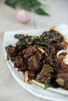 NADAN ERACHI ULARTHIYATHU (kerala-style meat fry) ~~~ recipe gateway: this post's link + http://lifescoops.blogspot.com/2013/05/erachi-ullarthiyadu-traditional-kerala.html [India, Kerala] [spicychilly] [lifescoops]