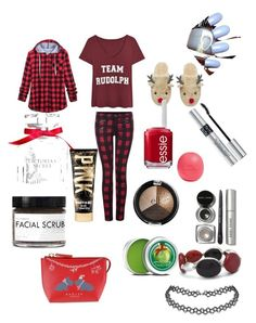 """""""Christmas!!!"""" by styleislife235 on Polyvore featuring Dex, Essie, Victoria's Secret, Eos, Bobbi Brown Cosmetics, Christian Dior, Fig+Yarrow, The Body Shop, Radley and Chico's"""