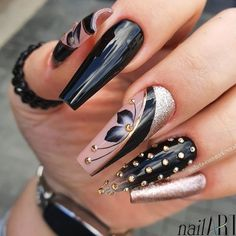 Sexy Nails, Dope Nails, Classy Nails, Stylish Nails, Cute Acrylic Nail Designs, Best Acrylic Nails, Beautiful Nail Designs, Nails Only, Luxury Nails