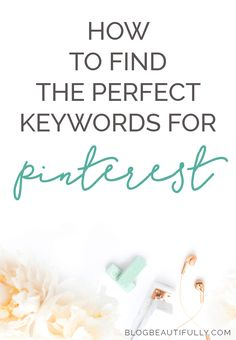 """Confused by keywords on Pinterest? This epic guide has everything you need to know! Where to find the perfect keywords (and the Smart Search hack you'll wish you'd heard of MONTHS ago), plus the 6 key places to put keywords on Pinterest. Click through for all the details! From <a href=""""http://blogbeautifully.com"""" rel=""""nofollow"""" target=""""_blank"""">blogbeautifully.com</a>"""
