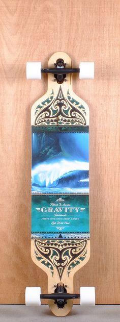 "Gravity 41"" Drop Carve Olas Azules Longboard Complete Bottom"