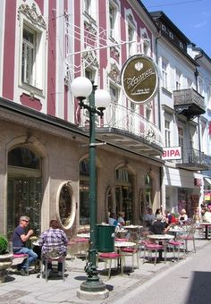 Konditorei Zauner - Bad Ischl - Austria ~ this is nice but I prefer the seating in the garden that runs along the river. memories here with my mom and family! Austria, Coffee Shops, Hallstatt, Im Coming Home, Coffee Places, Beautiful Places, Amazing Places, Central Europe, Continents