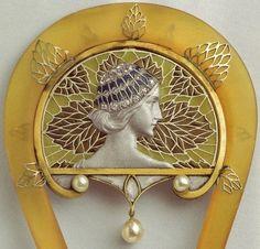Lalique - Art Nouveau - Peigne